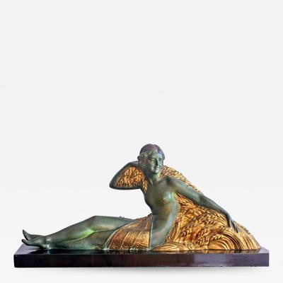Demetre Haralamb Chiparus Wheat Art Deco Nude
