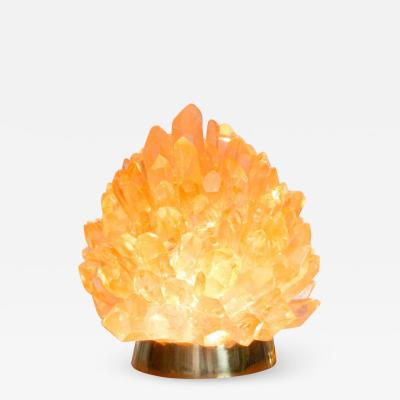 Demian Quincke Natural Amber Quartz Lighting Small Liberty Demian Quincke