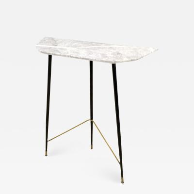Demilune Console Table with a Fior di Bosco Marble Top Italy 1950s