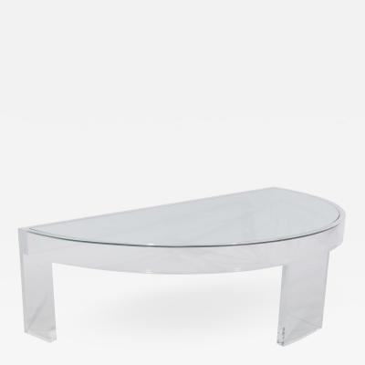 Demilune Lucite Cocktail Table