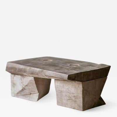 Denis Milovanov Original Sculpted Low Table in Oak Wood Denis Milovanov