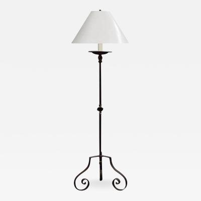 Dennis Leen Modern Formations Torchiere Wrought Iron Floor Lamp