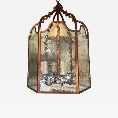 Dennis Leen Vintage Dennis Leen Lantern Chandelier Light Fixture