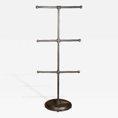 Dept 87 American Made Pipe Fitting T Stand Storage Garment Rack