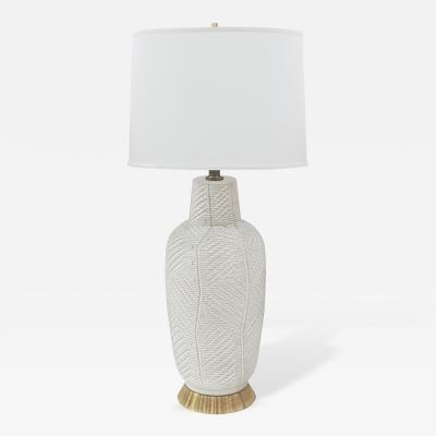 Design Technics Ceramic Table Lamp with Incised Organic Design by Design Technics