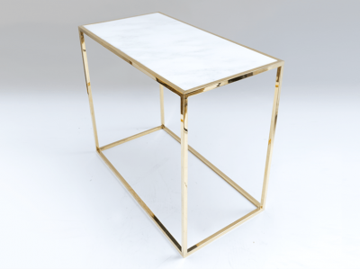 Desigual Brass and Marble Table