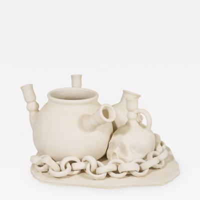 Desir Von Pelt Desir Von Pelt Ceramic Bisque Still Life Sculpture circa 2000 Spain