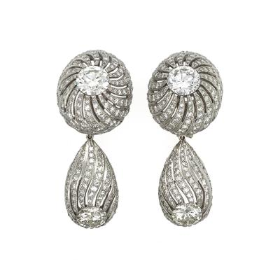 Diamond Day and Night Drop Earrings