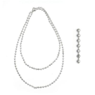 Diamond Gold Long Chain Necklace