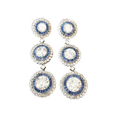 Diamond Saphire Earrings