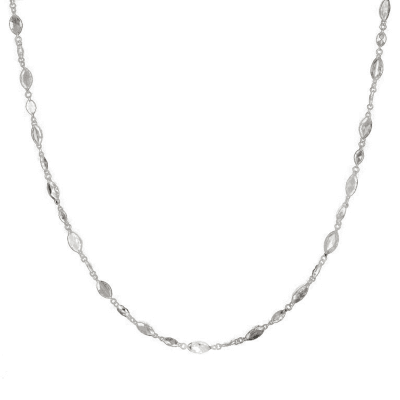 Diamond Set Platinum Chain