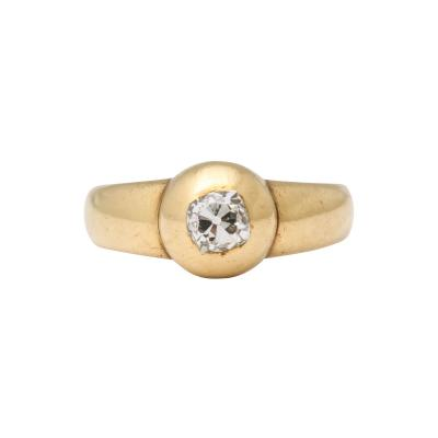 Diamond and 18 kt Gold Ring
