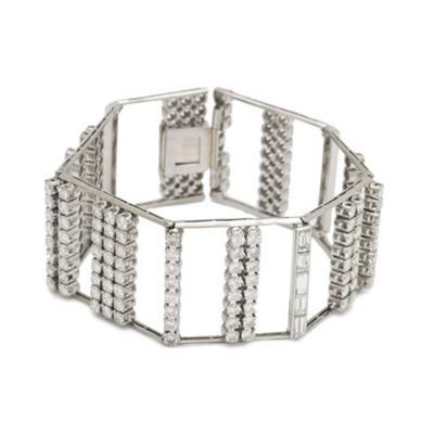 Diamond and Platinum Bracelet with 12 ct of Diamonds