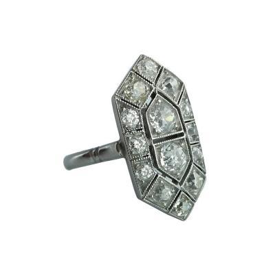 Diamond and Platinum Ring
