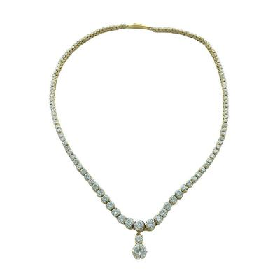Diamond and Yellow Gold Necklace Pendant