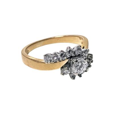 Diamond twist design 14K Ring