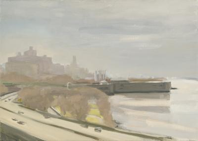 Diana Horowitz Riverside Drive at 158th Stormy