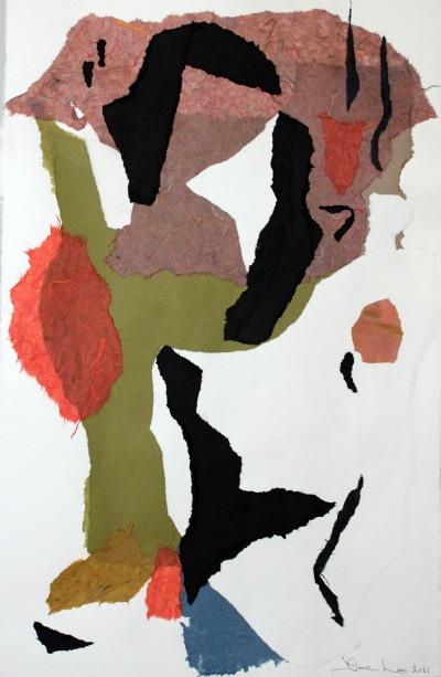 Diane Love Serenade 2021 A Large Abstract Collage by Diane Love