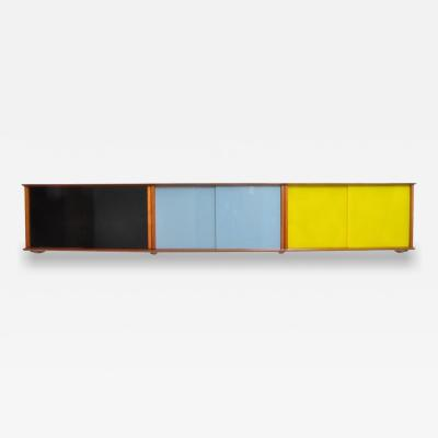 Didier Rozaffy Wall Mounted Cabinet with Glass Doors by Didier Rozaffy for Oscar