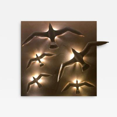 Didone Italy Design Wall lamp Applique Bronze Seagulls by Didone Italian Artist 2018