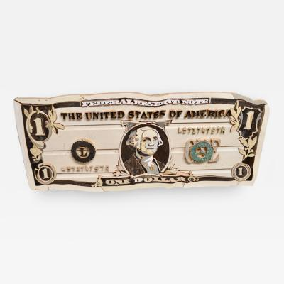 Diederick Kraaijeveld Original Diederick Kraaijeveld Pop Art One Dollar Bill