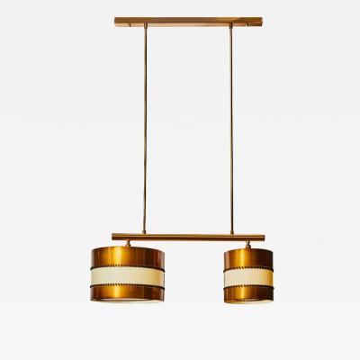 Diego Mardegan Chandelier in Brass and Parchment by Diego Mardegan for Glustin Luminaires