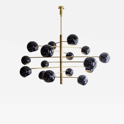 Diego Mardegan Violet Sputnik 16 Chandelier by Diego Mardegan