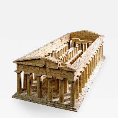 Dieter C llen A Cork Model of the Temple of Poseidon at Paestum by Dieter C llen