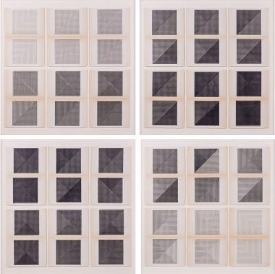 Dieter Roth Original Framed B W Letterpress Prints by Dieter Roth