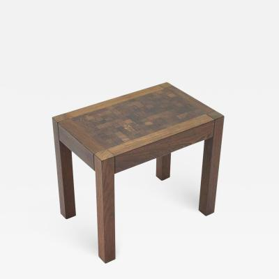 Dieter Waeckerlin Dieter Waeckerlin Side or End Mosaic Table in Wenge Switzerland 1960s