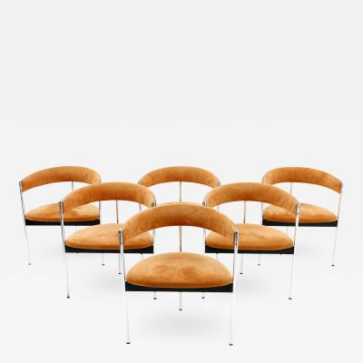 Dieter Waeckerlin Set of Six Dining Room Chairs by Dieter Waeckerlin Switzerland 1960s