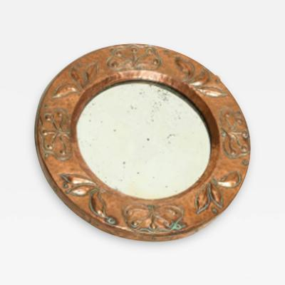 Diminutive Round Copper Mirror