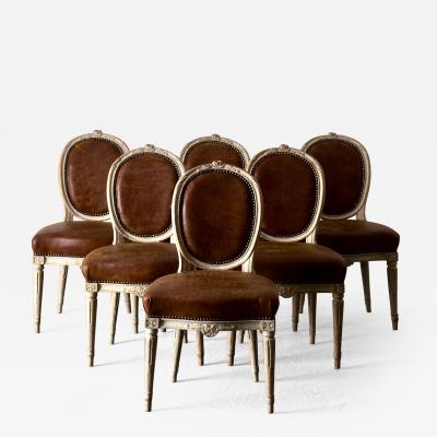 Dining Chairs Swedish Set of 6 18th Century Sweden