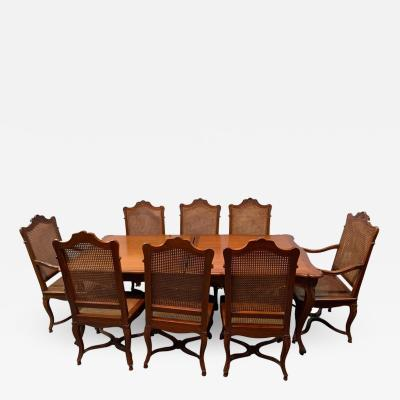 Dining Table and Eight Chairs Dining Room Set Country French Custom Quality