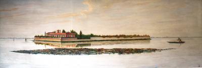 Dino Martens Dino Martens 1958 Large Painting Tessera Island Carlo Nason Estate