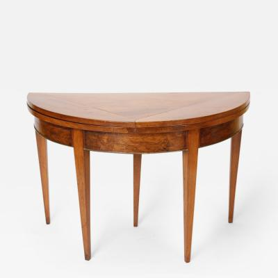 Directoire Walnut Games Table