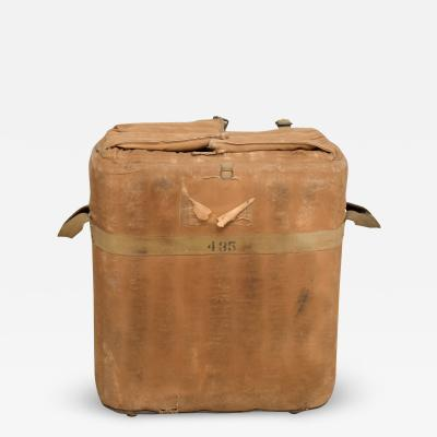 Distressed Vintage Army Military Surplus Ice Cooler Chest Tote USA 1940s