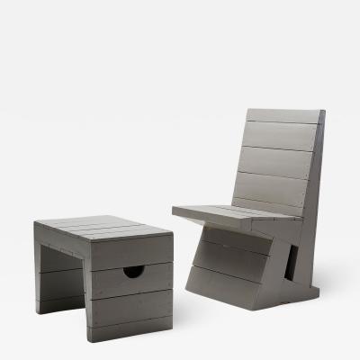 Dom Hans van der Laan Chair and Stool by Dom Hans van der Laan Netherlands 1960s