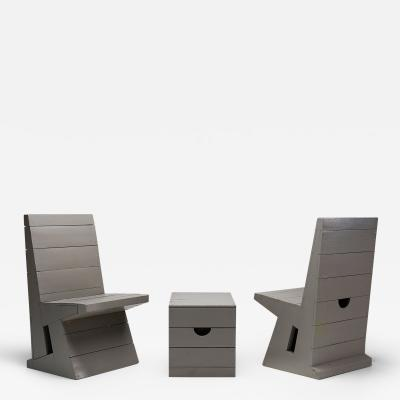 Dom Hans van der Laan Two Chairs and Stool by Dom Hans van der Laan The Netherlands 1960s