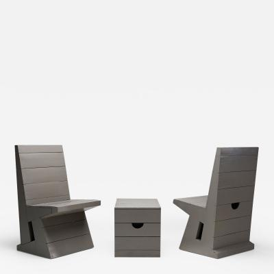 Dom Hans van der Laan Two chairs and Stool by Dom Hans van der Laan Netherlands 1960s