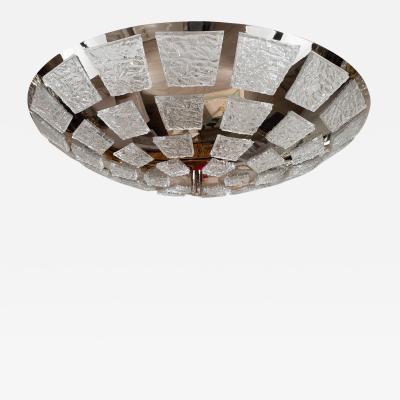 Dome form polished nickel mosaic ceiling fixture