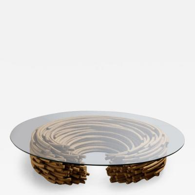 Domingos T tora Contemporary Glass Top Center Table by Domingos T tora Brazil 2013