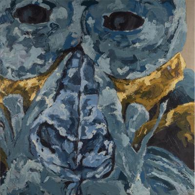 Dominique Yee 21st C Expressionism Animal Painting Auzouxs Troglodytes Gorillas