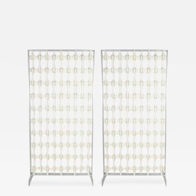Don Harvey Pair of Aluminum Framed Don Harvey Bone Screens