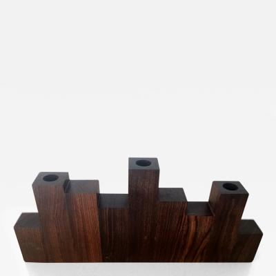 Don Shoemaker A Rosewood Candle Holder by Don Shoemaker