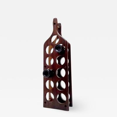 Don Shoemaker Cocobolo Wine Rack attributed to Don S Shoemaker Mexico 1950s
