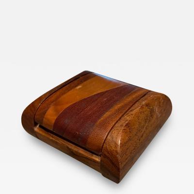 Don Shoemaker Don Shoemaker Cocobolo Secret Keepsake Small Wood Box 1970s Mexico