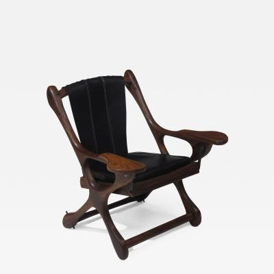 Don Shoemaker Don Shoemaker Rosewood Leather Chair