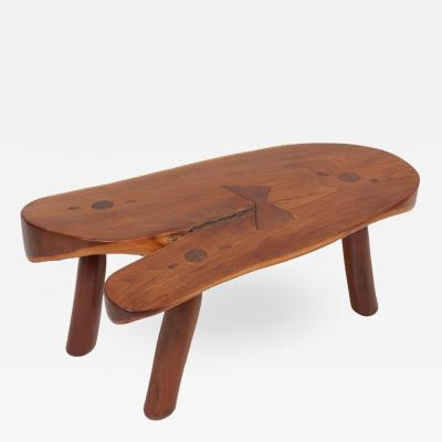 Don Shoemaker Handcrafted Studio Coffee Table by Don Shoemaker Mexico 1960s