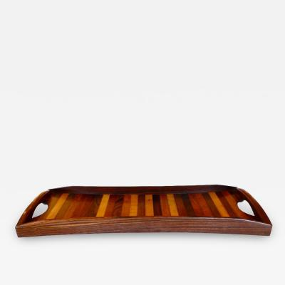 Don Shoemaker Laminated Rosewood Serving Tray by Don Shoemaker